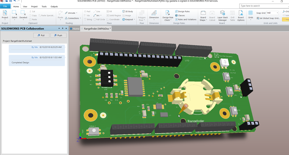 Nine Dot Connects » SOLIDWORKS PCB 2019, Nine Dot Connects